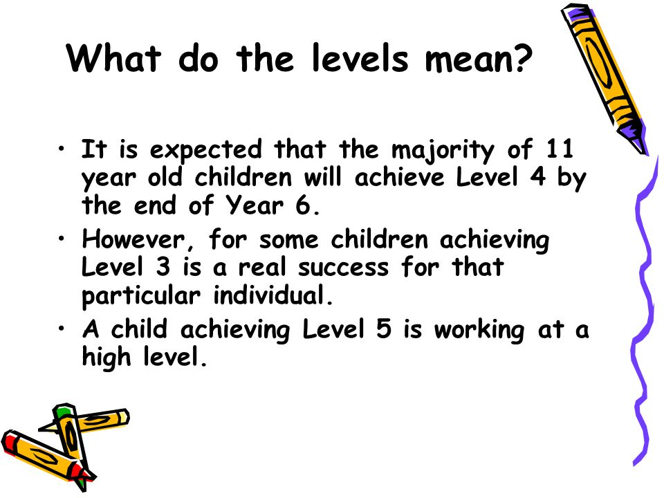 What do the levels mean.