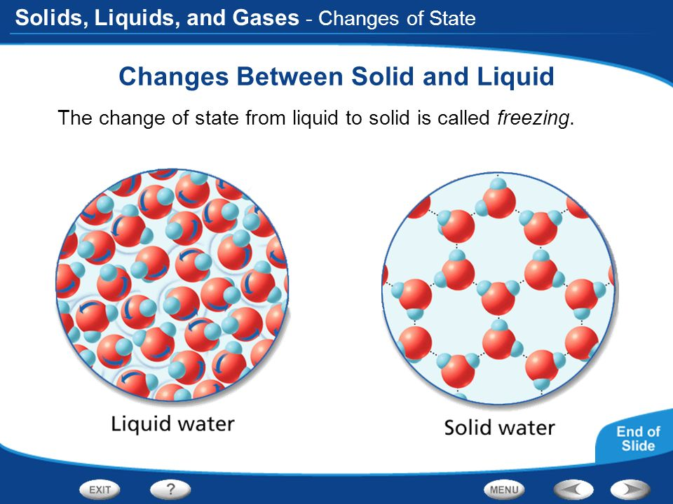 liquids and solids States of matter is an educational activity for kids to learn about the different properties of matter the lesson will introduce solids, liquids, and gases.