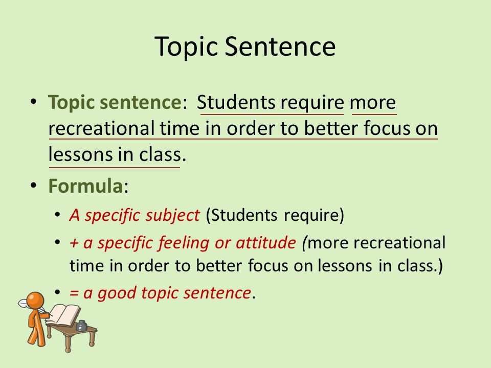writing the paragraph topic sentence the topic sentence tells the 3 topic