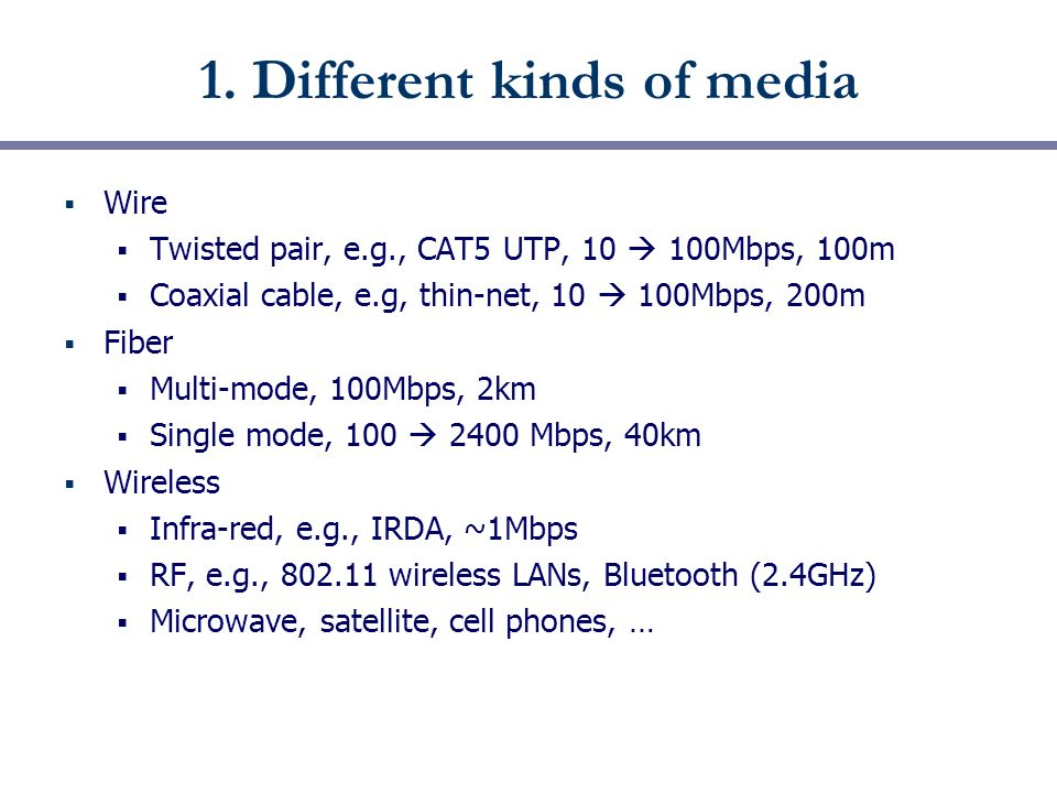 CSE 461: Bits and Bandwidth Next Topic  Focus: How do we send a ...