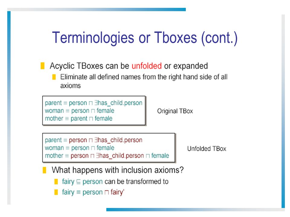 15 Terminologies or Tboxes (cont.)