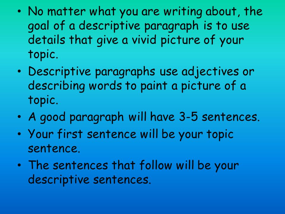 Descrivtion essay help what exactly does this mean?