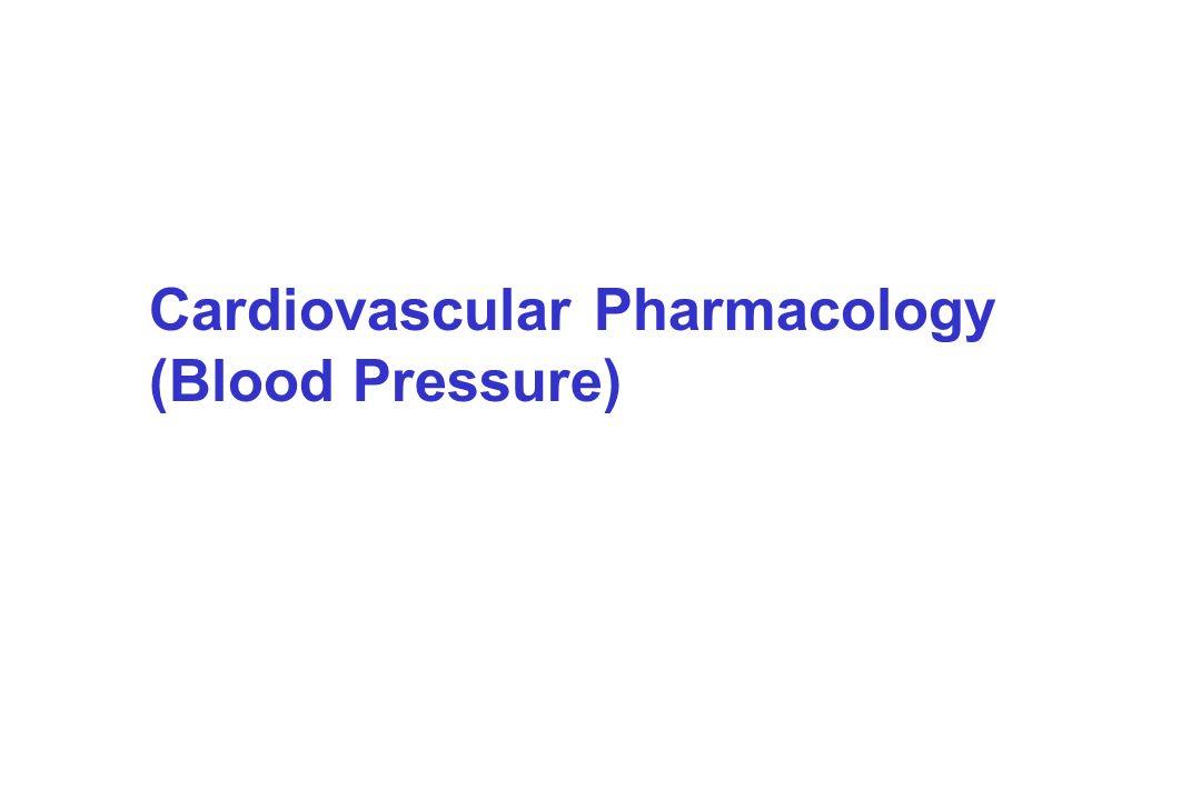 Cardiovascular Pharmacology (Blood Pressure)