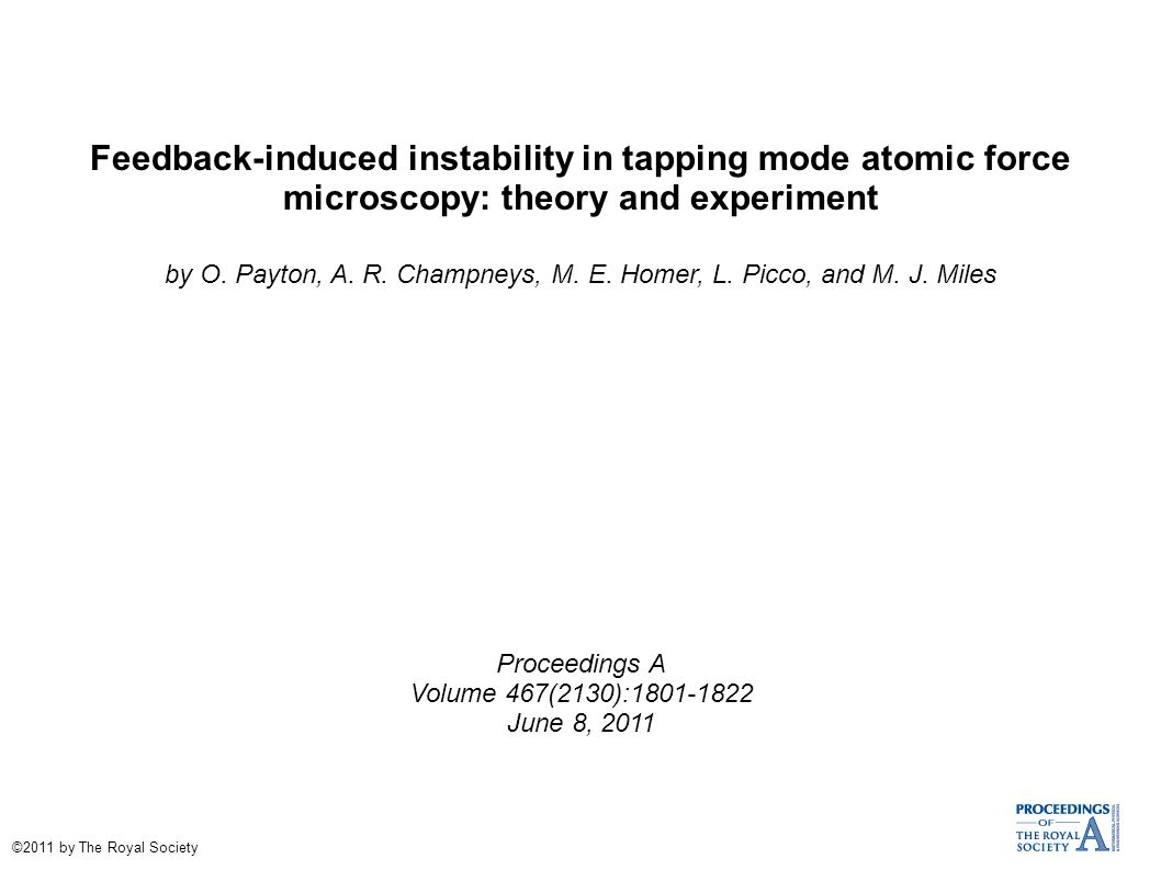 Feedback induced instability in tapping mode atomic force 1 feedback induced xflitez Gallery