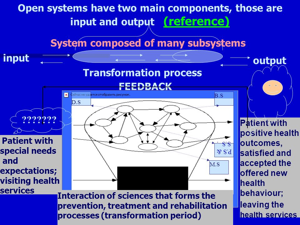 Provision of health services is a process and generally patient is the most common/identified input and outcome of this system.