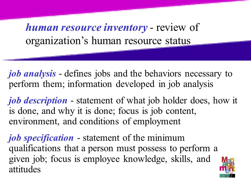 Chapter  Human Resources Management Hrm Process Necessary For