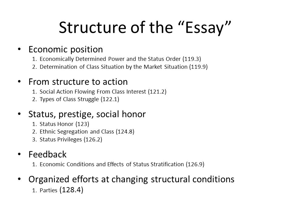 "class status and party fall structure of the ""essay"" economic  2 structure"