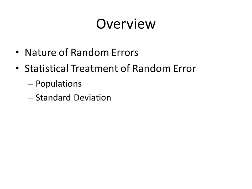 Chapter  Random Errors In Chemical Analysis Che  Quantitative