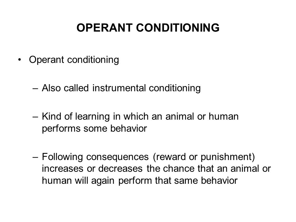instrumental operant conditioning Follow me: twitter: instagram: in today's episode we talk about operant conditioning and.