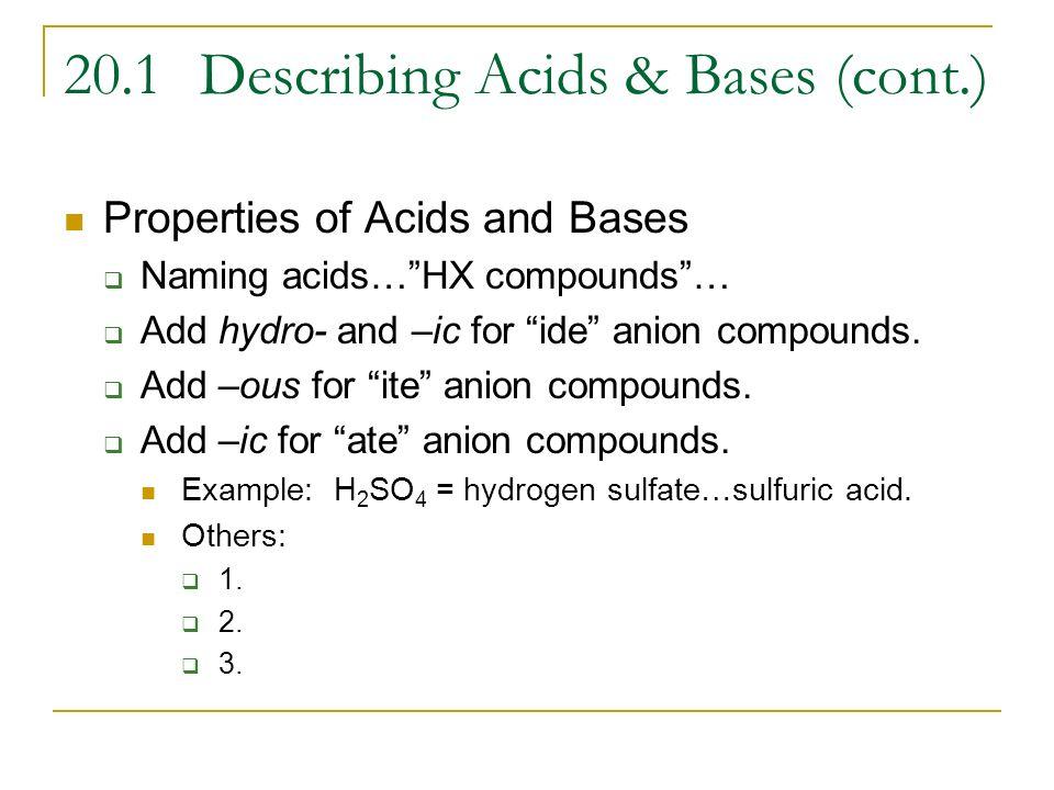 Naming Acids And Bases Worksheet Naming Acids And Bases Worksheet