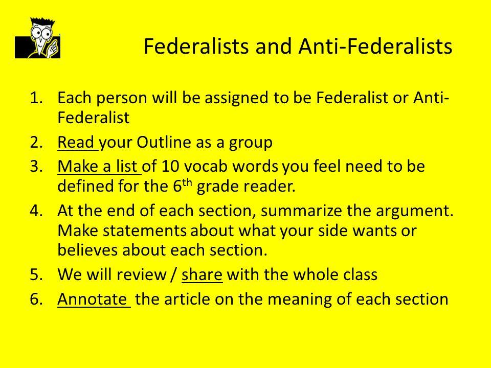 anti federalists vs federalists essay
