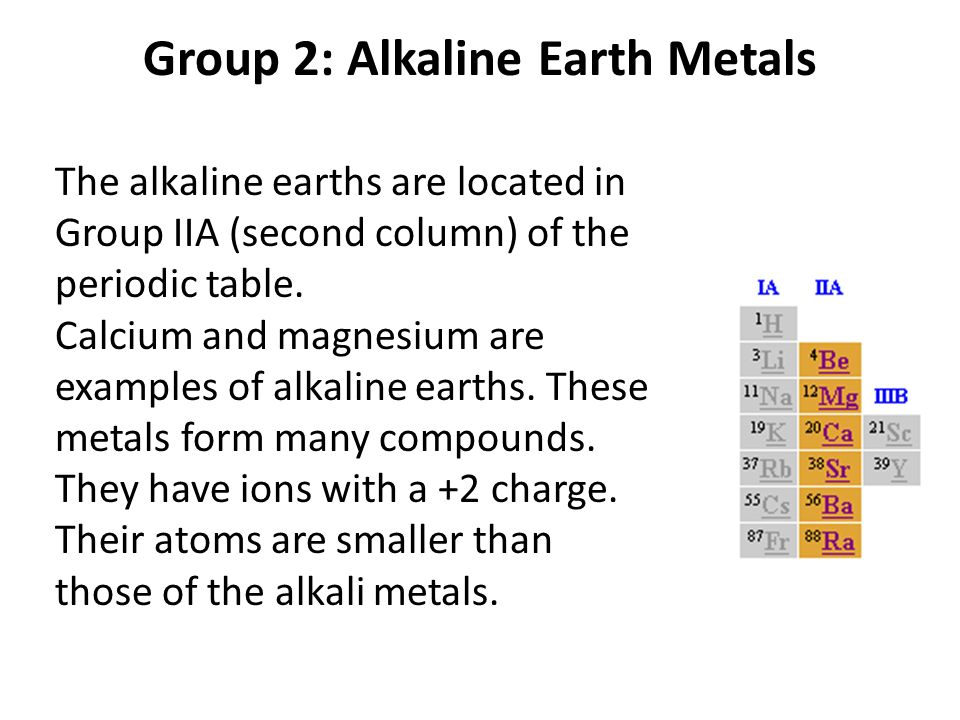 23 group 2 alkaline earth metals - Periodic Table Group 2 Alkaline Earth Metals