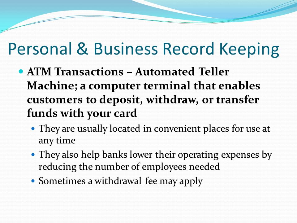 computerized record keeping Record keeping for a small business participant guide money smart for a small business curriculum page 2 of 18 table of contents welcome 3.