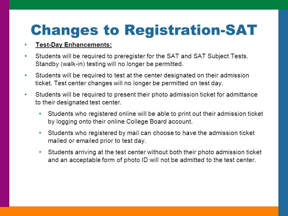 C O L L E G E S U C C E S S ™ College Admissions Testing Info ...