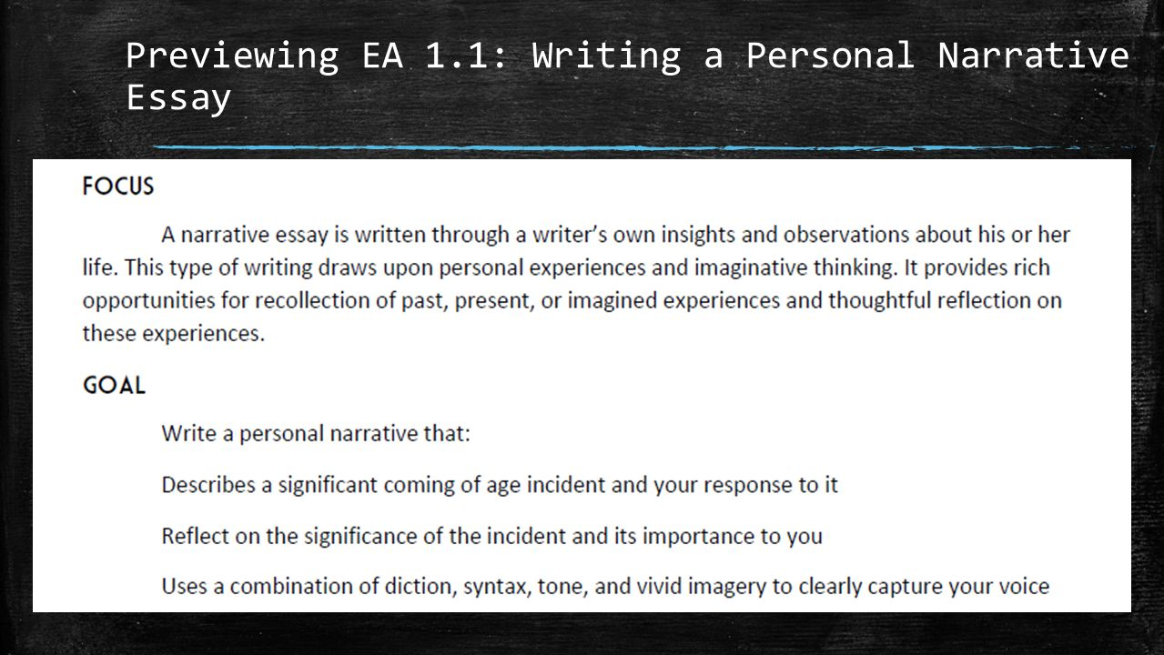 response to a personal narrative on Grade 7 writing personal narrative prompt the narrative is insubstantial because the writer's response to the prompt is vague or confused.