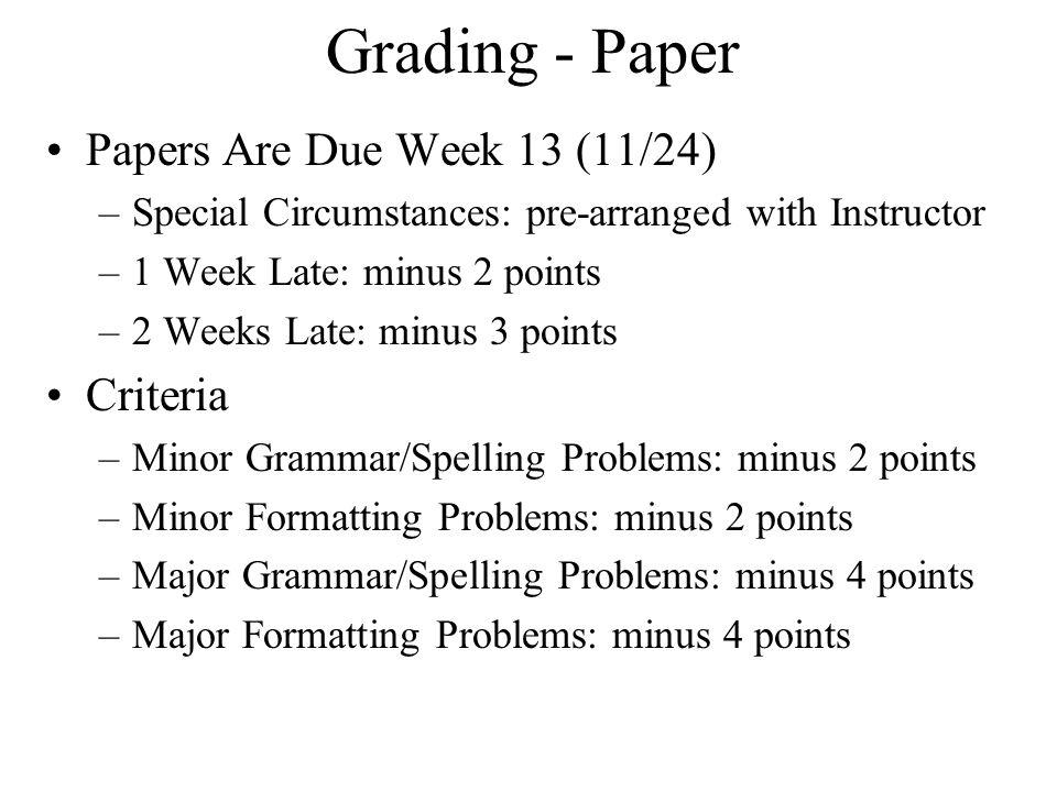 tel paper presentation outline format grading ethics potential  6 grading