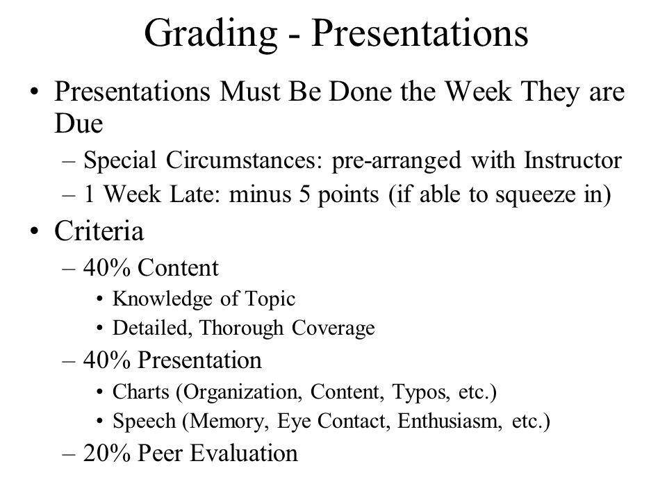 tel paper presentation outline format grading ethics potential  7 grading presentations presentations