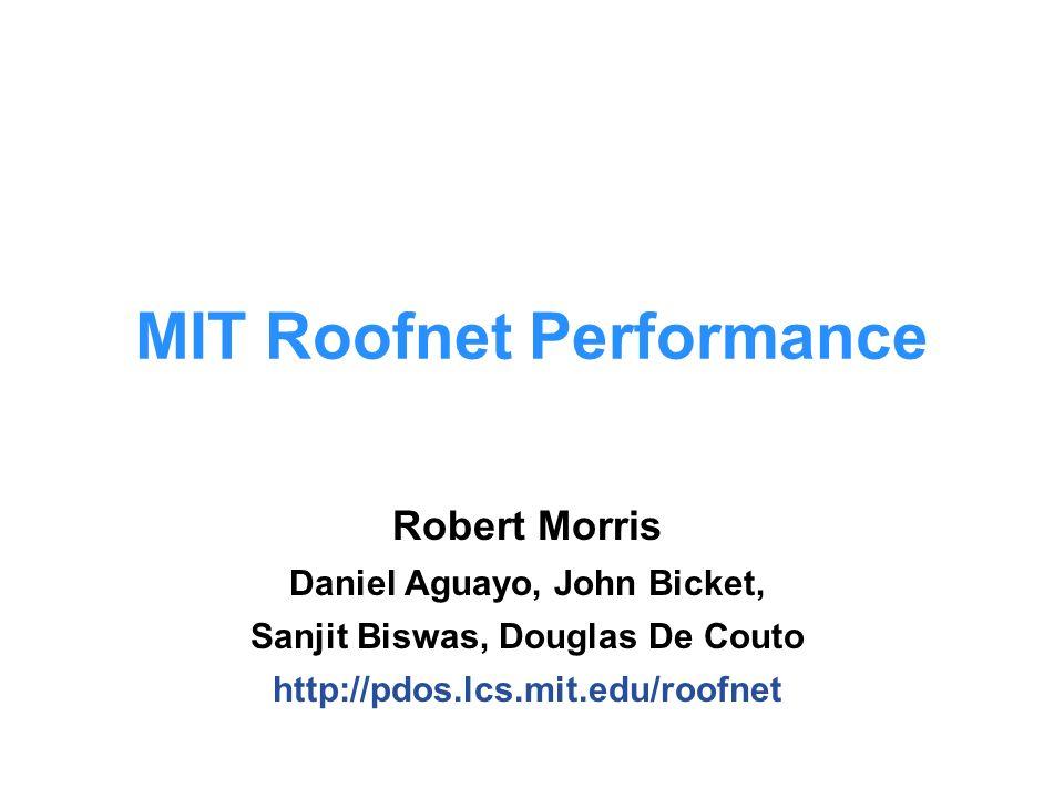 robert morris daniel aguayo john bicket sanjit biswas douglas de couto mit roofnet performance