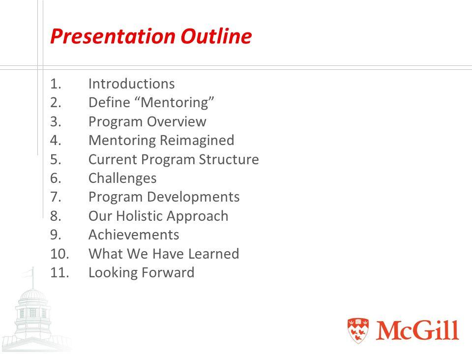 mentoring program outline - Template