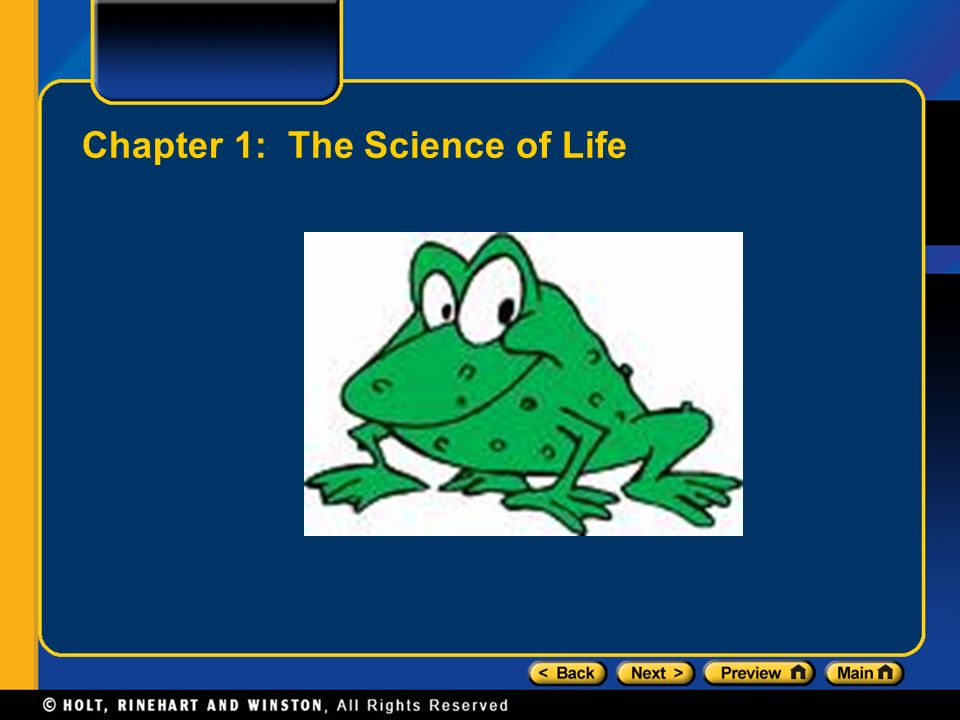Chapter 1: The Science of Life