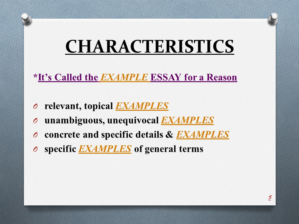 Example Of Illustrative Essay