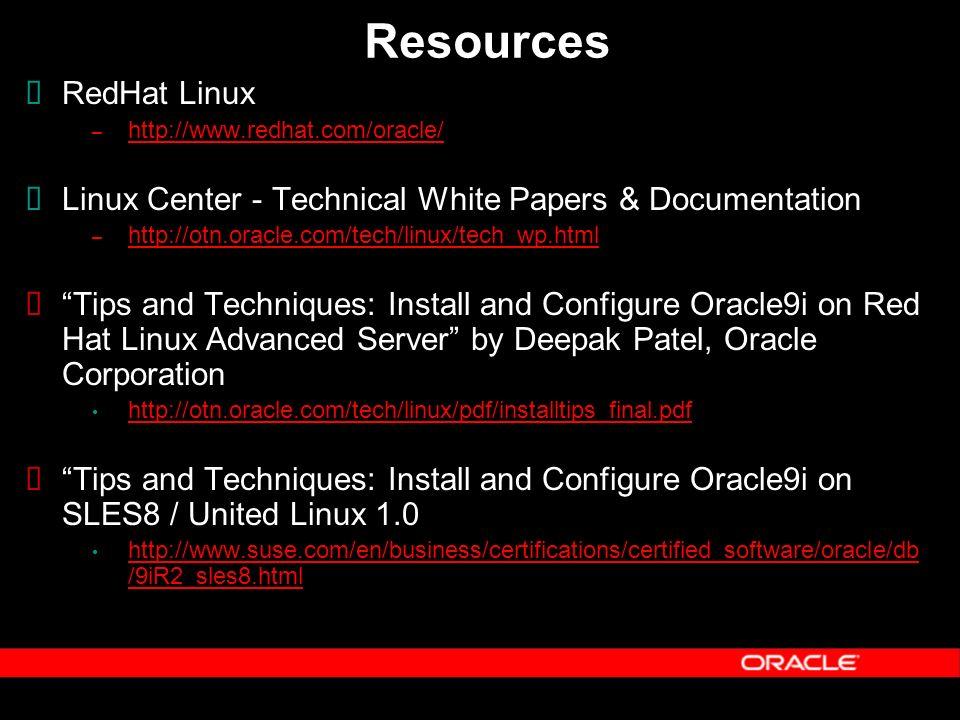 RAC Best Practices on Linux Kirk McGowan Technical Director