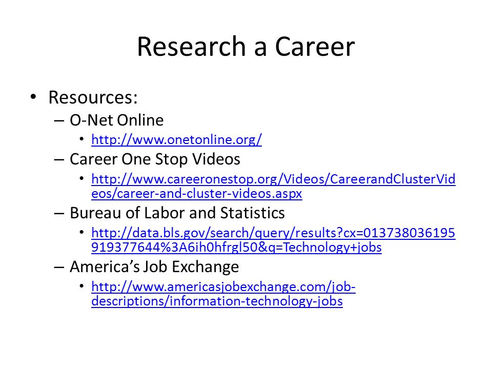 information technology career research Informationweekcom: news, analysis and research for business technology professionals, plus peer-to-peer knowledge sharing engage with our community.
