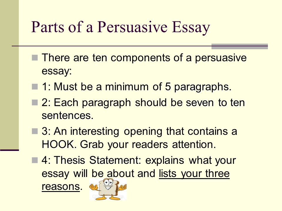 key components of a five paragraph essay Now that you've established all the components of your 5-paragraph essay outline, you'll need to actually sit down, avoid social media for a while (i know, it's hard), and write your 5-paragraph essay.