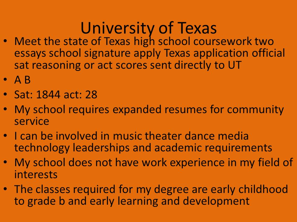 texas tech admissions essay requirements
