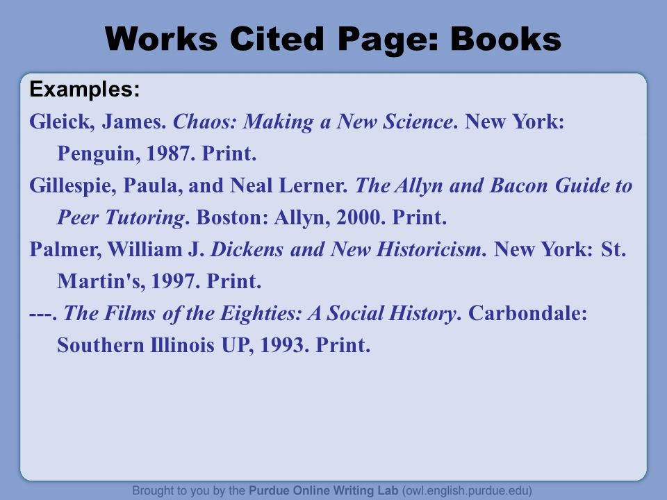Examples: Gleick, James. Chaos: Making a New Science.
