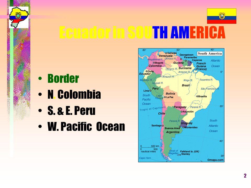 WHEERE IS ECUADOR LOCATED South America North America Central - Where is ecuador located