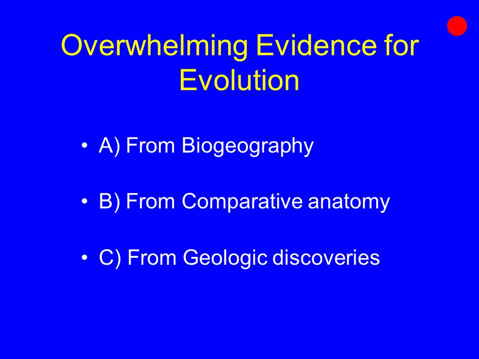 Processes Of Evolution Chapter 16 Overwhelming Evidence For
