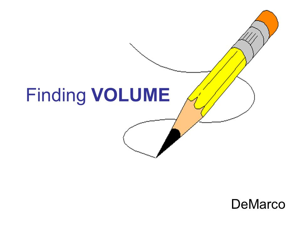 Finding VOLUME DeMarco