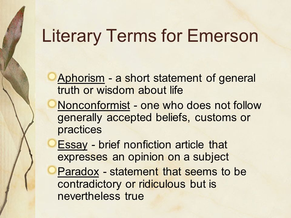 emerson and thoreau transcendentalism beliefs essay Transcendentalism: ralph waldo emerson and henry david thoreau ralph waldo emerson wrote it and henry david thoreau lived it transcendentalism was a religious and philosophical movement developed approximately in the 1820s and 1830s.