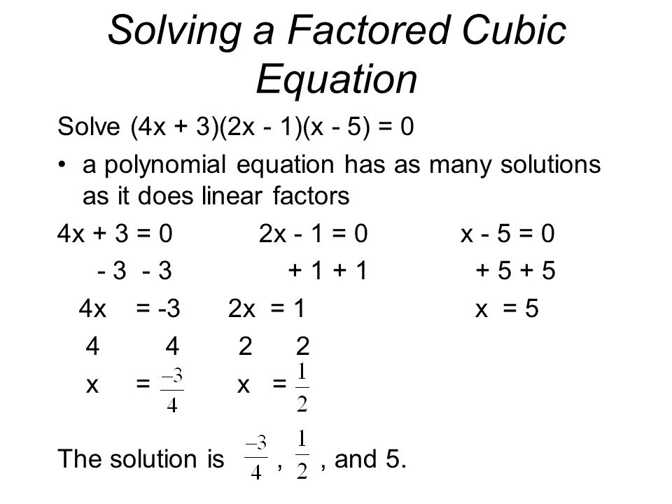solution of the cubic equation essay