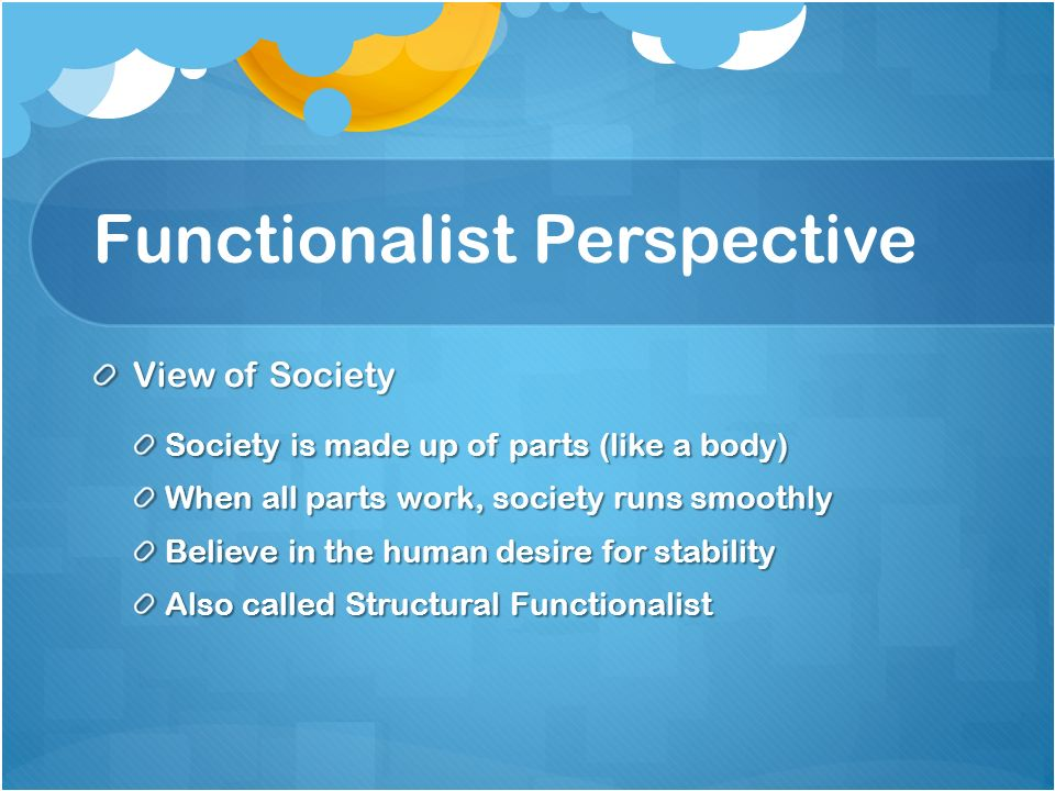 Functionalist Perspective Boatremyeaton