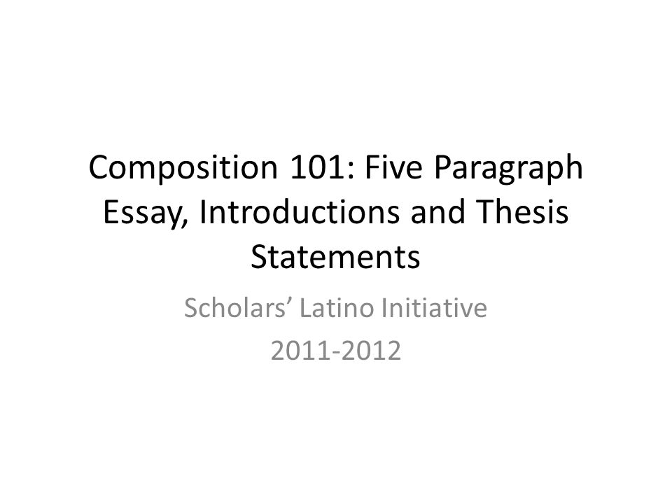 essay compo This assignment will give you practice in composing a narrative essay based on personal experience--sometimes called a personal statement.