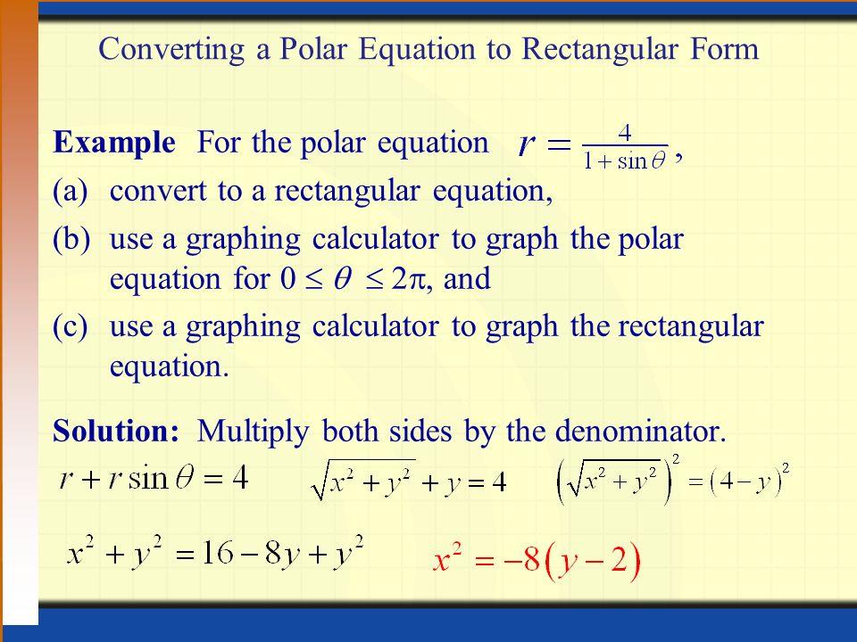 9.6 Polar Coordinates Digital Lesson. HWQ 3/24 Find a set of ...