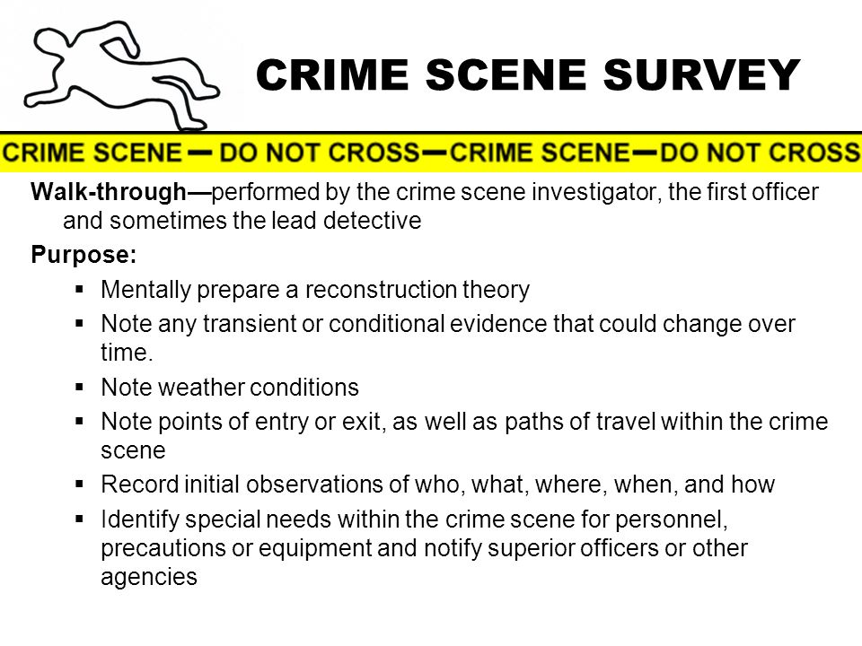 6 crime - Description Of A Crime Scene Investigator
