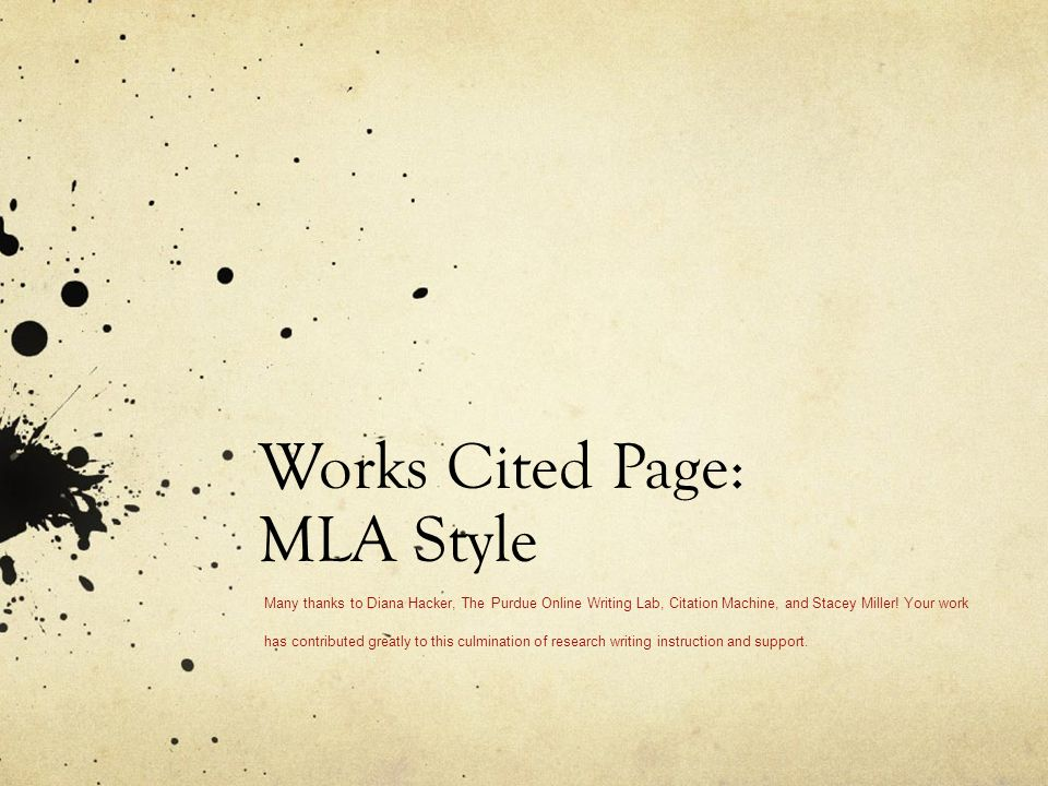 Mla Citation Machine With Url
