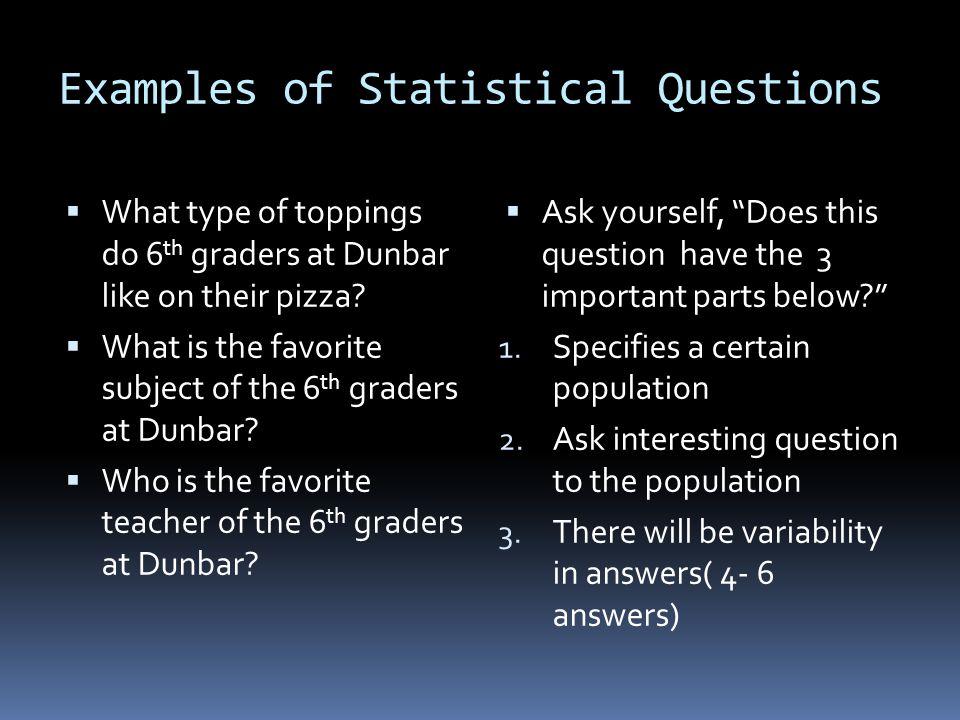 3 rd Quarter 6 th Grade Math Lesson 1 Common Core 6. SP.1 ...