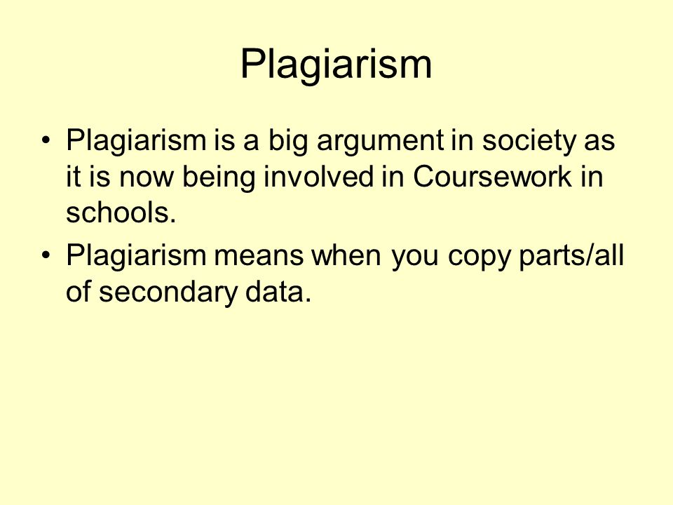 effects of plagiarism to the students essay