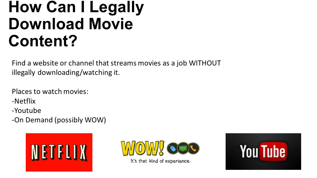 Illegal movie downloads websites