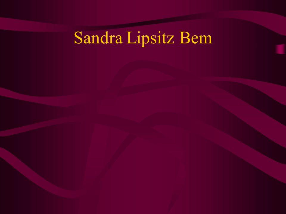 Sandra Lipsitz Bem