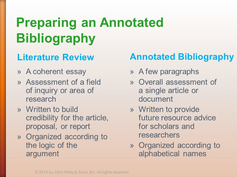 annotated bibliography review essay Every single college student at least once had to write an annotated bibliography to tell the truth, it is a real nightmare for me thanks for this article.