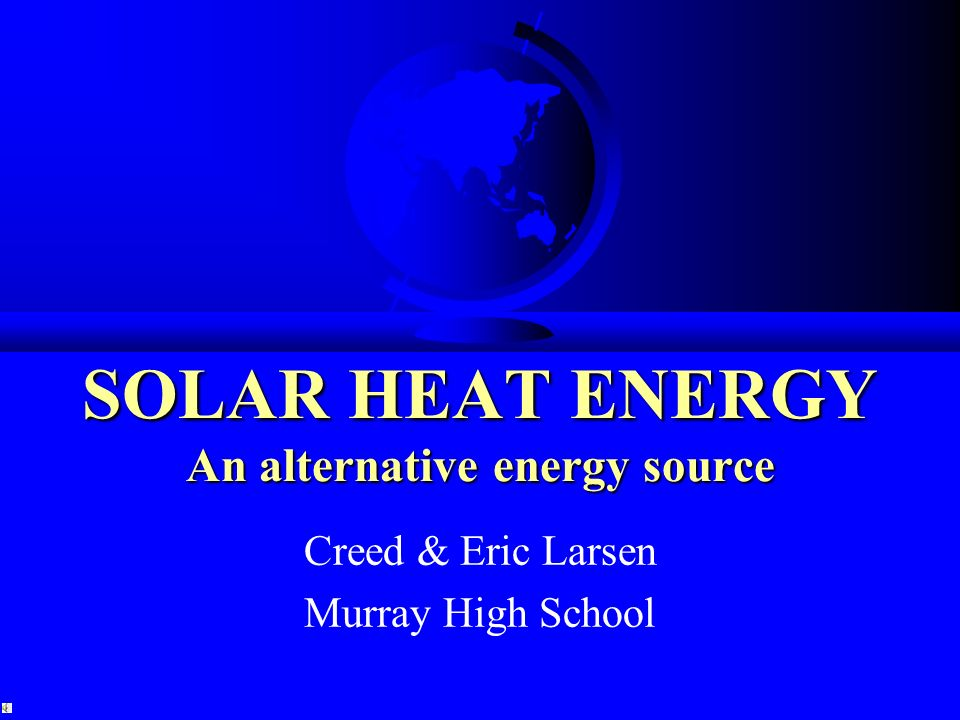 the exploration of mechanical energy as an alternative energy source Obtained from the conversion of mechanical energy stimulated by the need for finding an alternative energy source eniscuola energy and environment.