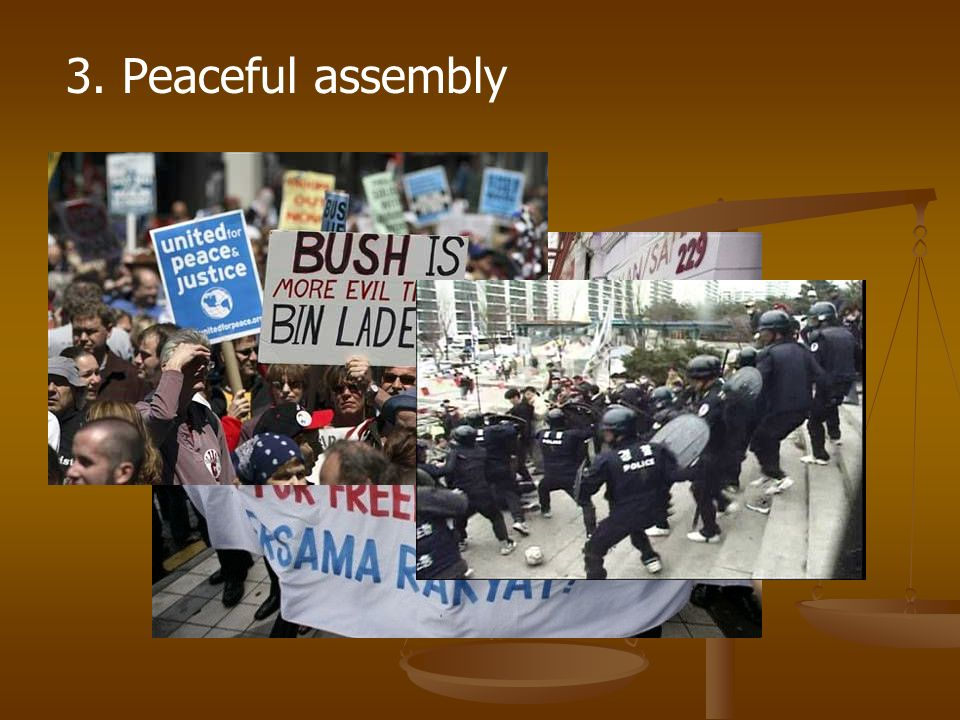 3. Peaceful assembly