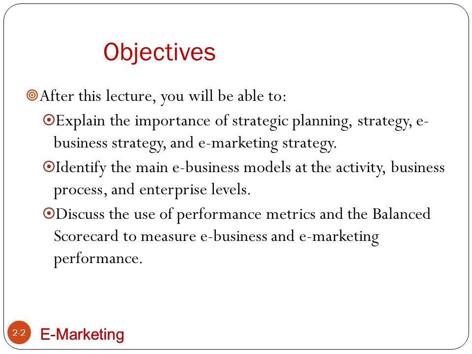 E-Marketing Business Process-Level E-Business Models 2-13 1.