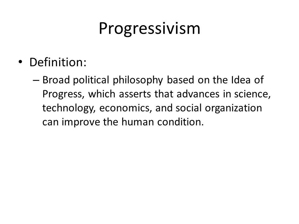 the idea of progress definition