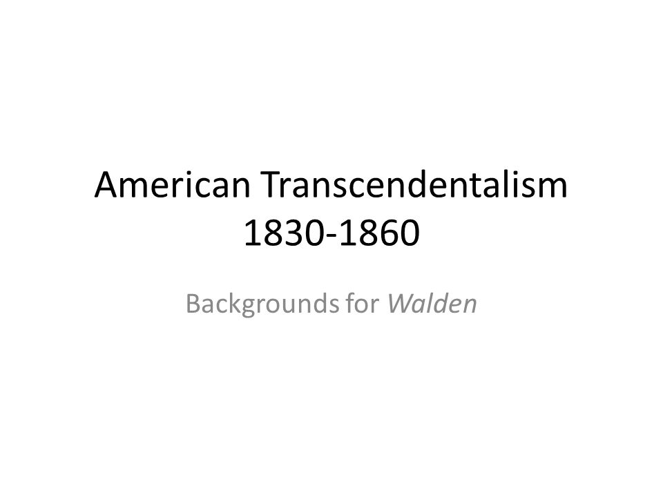 an introduction to the transcendentalism a movement in philosophy
